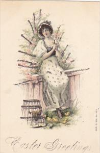 Easter Beautiful Lady With Chickens