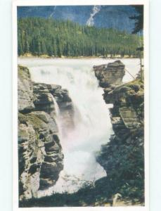 Unused Pre-1980 WATERFALL Athabasca Falls - Near Lake Louise Alberta AB E4239