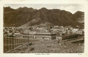 Yemen Aden general view real photo postcard