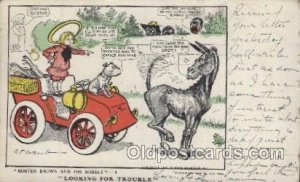 Artist Signed R.F. Outcaust Buster Brown 1907 crease bottom right corner, a l...