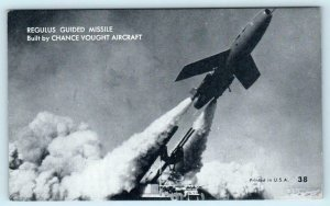 REGULUS GUIDED MISSILE Built by Chance Vought Aircraft - Mutoscope Postcard