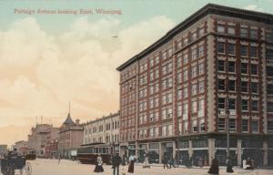WINNIPEG , Manitoba , Canada , 1900-10s ; Portage Avenue looking East