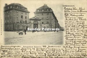 denmark, COPENHAGEN KOBENHAVN, Solvgadens Kaserne (1901) Stamp