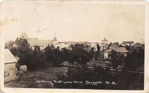 Bryant South Dakota~View From Mill~School on Hill~Churches, Homes RPPC 1910