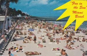 Beach Scene, MIAMI BEACH, Florida, 40-60's