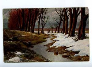 224563 RUSSIA Background KLEVER Forest creek TUCK #1203 old