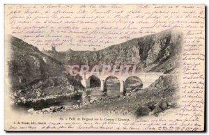 Postcard Old Bridge Brigand on Creuse Crozant