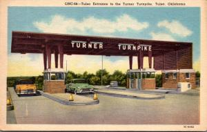 Oklahoma Tulsa The Tulsa Entrance To The Turner Turnpike 1954 Curteich