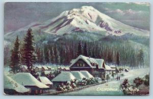 Postcard CA Mt Shasta Tucks Oilette Art by C Chapman F24