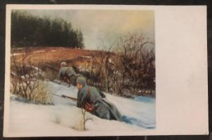 Mint Czechoslovakia Army Picture Postcard PPC Mountain Attack