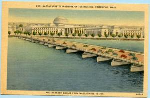 MA - Cambridge, Massachusetts Institute of Technology & Harvard Bridge from M...