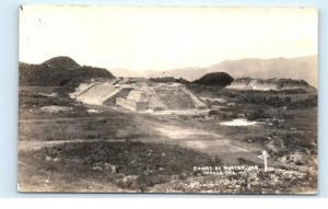 *Ruinas de Monte Alban Oaxaca Mexico Pyramid Vintage Photo Postcard C82