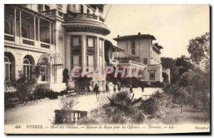 Old Postcard Army Hyeres Mont des Oiseaux House of rest for officers Terrace