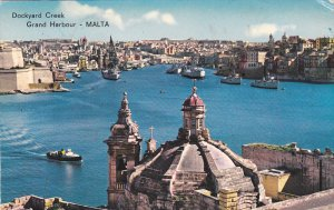 Dockyard Creek - Grand Harbor , MALTA ,  PU-1965