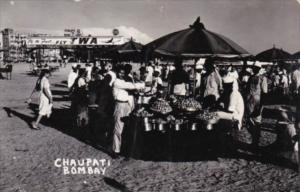 India Bombay Chaupati The Market TWA Advertisement Real Photo