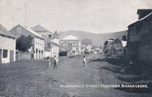 Wilberforce Street, Children Playing, FREETOWN, Sierra Leone, Africa, PU-1906