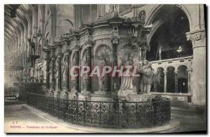 Old Postcard Tomb of Reims St Remi