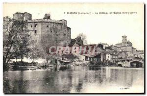 Old Postcard Clisson Chateau and Church of Our Lady