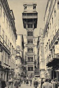 Elevator Of Santa Justa Lisboa Portugal