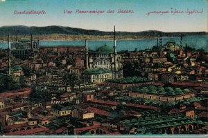 Turkey Constantinople Vue Panoramique des Bazars 03.39