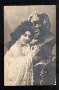 037035 SAHARET Famous Dancer & Satyr. Vintage PHOTO