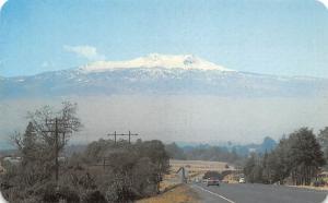 Mexico La Carretera Mexico Toluca Highway Snow Covered Nevado