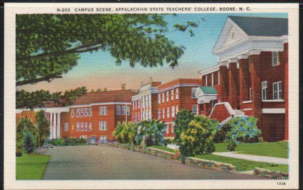 North Carolina PC Appalachian Teachers College Boone  unused
