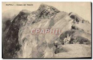 Postcard Old Volcano Crater Napoli del Vesuvio