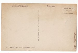 P1237 1929 unused postcard vauluse - la fontaine france birds eye view