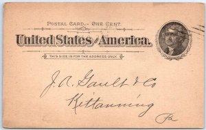 1897 Philadelphia PA Receipt Postcard C WILKINSON'S SONS Fruit Produce w/ Cancel