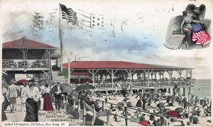 Ross Pavilion, Ocean Grove, N.J., Early Hand Colored Postcard, Used in 1906