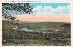 Pennsylvania Shohola View Of Delaware River And Blue Mountains