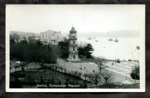 dc939 - ISTANBUL Turkey 1940s Dolmabahce Meydani Real Photo Postcard