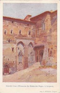 AS, Grande Cour d'Honneur Du Palais Des Papes, A Avignon, France, 1900-1910s