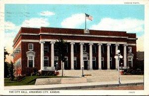 Kansas Arkansas City City Hall 1926 Curteich