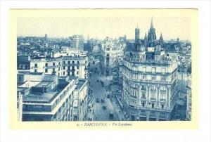Via Layetana, Barcelona (Catalonia), Spain, 1900-1910s