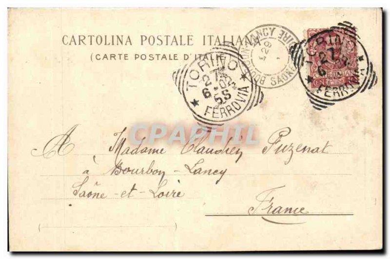 Italy Italia Torino Old Postcard Castello del Valentino edificato nel 1653