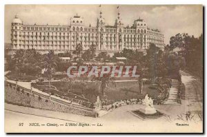 Postcard Old Nice Cimiez Hotel Regina
