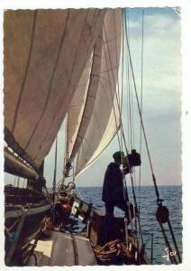 On board deck of sailing Vessel, France PU-1966