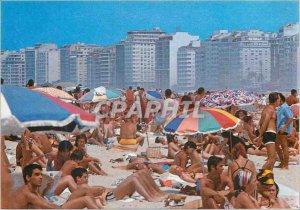 Modern Postcard Rio de Janeiro Panoramic view of the beach