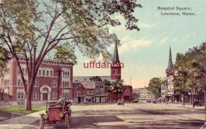 HOSPITAL SQUARE LEWISTON, ME 1915