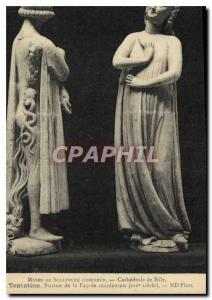 Old Postcard Museum of Comparative Sculpture Cathedral Bale Temptation Statue...