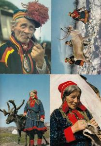Norway Lapp Family 4x Postcard s