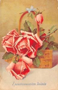 Postcard Red Roses Flowers, Fleurs