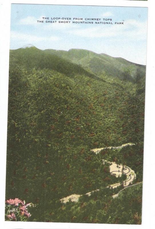 Smoky Mountains TN Loop-Over Needle's Eye Chimney Tops