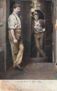 Coal Miners in shaft of Mine , 1907