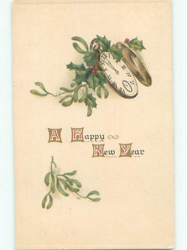Divided-Back NEW YEAR SCENE Great Postcard AA2134