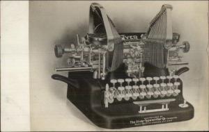 Oliver Typewriter c1910 Real Photo Postcard - CRISP IMAGE
