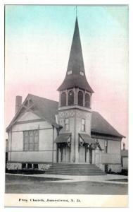 1910 Presbyterian Church, Jamestown, ND Postcard