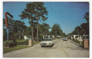 Royal Palms Mobile Homes Park Car Sarasota Florida postcard